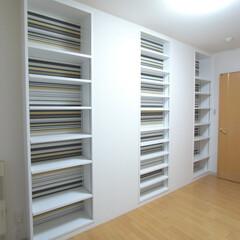 札幌/マンション/壁/子供部屋/収納/リバーシブル 二つの子供部屋を区切っている壁を解体し両…