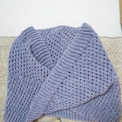 ハンドメイド 昨年、自分へのご褒美に輪編みのセットを買…(1枚目)