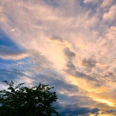 公園/夕暮れの景色/夕暮れ/夕暮れの空/LIMIAおでかけ部/おでかけ/... 夏の夕暮れの空  台風の影響でしょうか……
