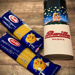 アンティークデザイン缶/バリラ・スパゲッティ限定缶 バリラ・スパゲッティ 450g2個+限定…