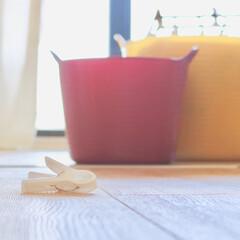 ランドリーボックス/洗濯カゴ/雑貨/暮らし/タブトラッグス 我が家の洗濯カゴです。 カラフルな色で生…