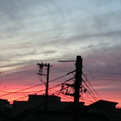 夕焼け 今日の夕焼けがキレイでした🌆  早く撮り…(3枚目)