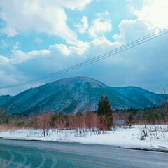 山/雪/おでかけ/風景/おでかけワンショット 寒い⛄