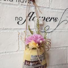 プリザーブドフラワー/フラワーアレンジメント/DIY/雑貨/インテリア/ハンドメイド/... 先日プリザーブドフラワーを開花したバラを…