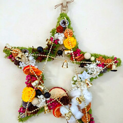 スター/星/お星様/壁掛け/オーダー/クリスマス/... 装飾しました~🎵 壁掛けお星様✨  オー…