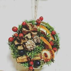 フラワーアレンジメント/リユース/リサイクル/minne/ミンネ/クリスマス/... クリスマスリメ缶アレンジがミンネの広告に…