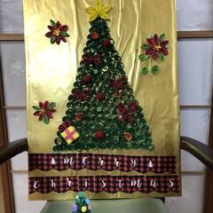 ペーパークイリング/向日葵/夜桜/クリスマス/作品展/職場/... デイサービスの皆さんで くるくる🌀くるく…(5枚目)