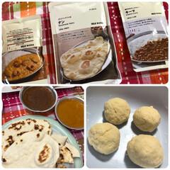 無印良品 フライパンでつくる ナン 200g(イカ惣菜、加工品)を使ったクチコミ「無印のナンが フライパンで焼けて 簡単 …」