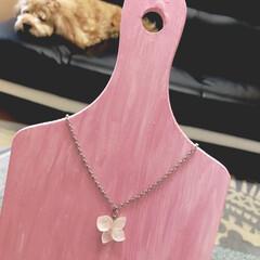 あじさいのネックレス こ〜んなネックレスを作ってみたぁ❣️  …