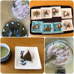桜の葉食べる派/桜の香り/桜餅 桜餅を作りました〜 🌸葉っぱから桜の香り…