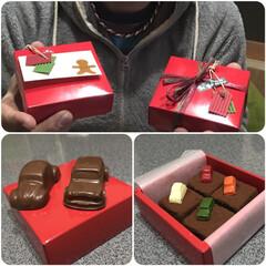 バレンタインデー/mini/車好き/チョコレート/フォロー大歓迎/バレンタイン2020/... 車🚘好きで 甘い物は好きではない夫への💕…