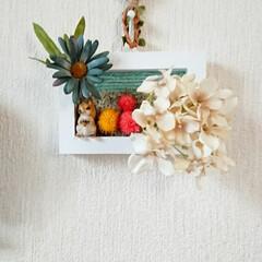 ハンドメイド/ハンドメイド初心者/紫陽花/りす/白い額/額飾り/... 紫陽花とりす