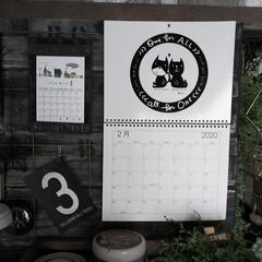 カフェ風インテリア/男前インテリア/賃貸インテリア/カレンダー2020/カレンダー/らくがき屋gamiカレンダー/... 2月になったのでカレンダーも2月に😆 今…