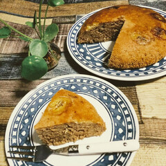 バナナケーキ/炊飯器レシピ/スイーツ/手作りスイーツ/手作り/おうちカフェ/... おうちカフェ☕️  炊飯器でバナナケーキ…