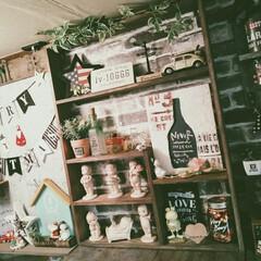 セルフリノベーション/カフェ風インテリア/男前インテリア/賃貸インテリア/棚作り/DIY/... ラブリコで作った壁の横のすきまを隠す棚を…