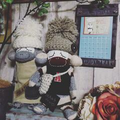 賃貸暮らし/賃貸インテリア/インテリア/らくがき屋gami/カレンダー/ソックスモンキー/... 気が付けばもう7月――🤣 今月もよろしく…