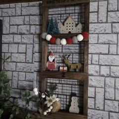 クリスマスインテリア/クリスマス飾り/クリスマス雑貨/クリスマス/簡単DIY/焼き網/... ハロウィンが終わったので クリスマス飾り…