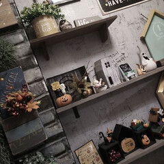 カフェ風インテリア/男前インテリア/賃貸インテリア/玄関インテリア/ハロウィンインテリア/ハロウィン/... やっと秋らしくなって来たね☺️❤️ なの…