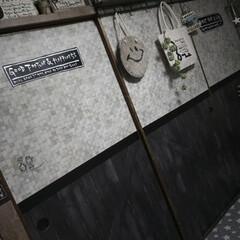 男前インテリア/賃貸インテリア/賃貸リノベーション/賃貸リメイク/押入れリメイク/リメイクシート/... 押し入れのふすまのリメイクシートを貼り替…