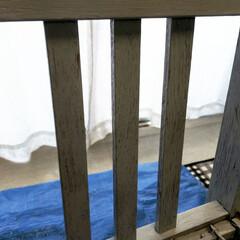エクステリアカラー スカイグレー  水性着色剤 ウッドアトリエ | 和信ペイント(Washi Paint)(ニス、ステイン)を使ったクチコミ「気づけば10月最終日やん😅  今日はLI…」(6枚目)