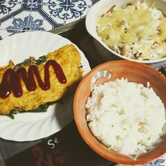おうち時間/焼きうどん/クリームパスタ/じゃがチーズもち/晩ご飯/おうちごはん/... おうちごはん🍚🍴  1枚目 野菜たっぷり…(3枚目)
