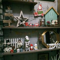 男前インテリア/玄関インテリア/賃貸インテリア/クリスマスインテリア/クリスマス飾り/クリスマス雑貨/... 玄関のハロウィン飾りを やっとクリスマス…