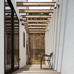 ウッドデッキ/土間/注文住宅/建築家住宅/r+house/一戸建て/... 土間同様、さまざまな使い方ができることで…