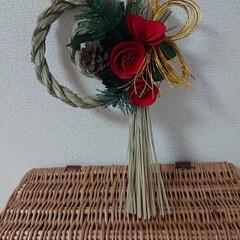 正月飾り/しめ縄飾り/リミアの冬暮らし/ダイソー/セリア/100均/... こんばんは🙇 今日は、リボンも買えたけど…(4枚目)