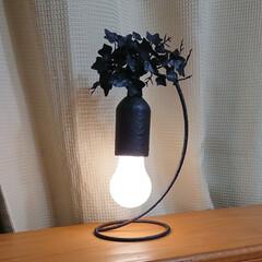盛る/ペイント/ハンドメイド/間接照明/ライト/DIY/... ダイソーの電球型ライト2 今回は寝室の卓…