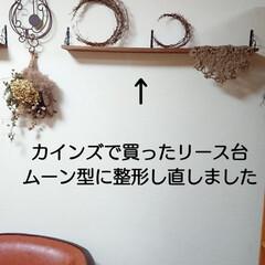 ドライフラワーの飾り方/ドライフラワーのある暮らし/ドライフラワー/100均/ニトリ/キャンドゥ おはようございます🙇 盛り盛りドライフラ…(5枚目)