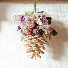 プレゼント/ドライフラワー/花かご/ダイソー/セリア/100均/... おはようございます🙇 薔薇の花...素敵…(2枚目)