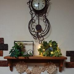 リメイク/フェイクグリーン/リース/照明DIY/ライト/DIY/... おはようございます🙇  鮮やかな色の花た…