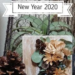 木の実/お正月2020/DIY/雑貨/ハンドメイド/住まい/... 明けました 2020 おめでとうございま…