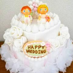 粘土/ハンドメイド/ケーキ/ウェディング/粘土細工/樹脂粘土/... 結婚式のウェルカムスペースの飾りつけ用に…