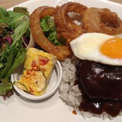 ロコモコ/カフェ風/ハンバーグ/ランチ/lunch/ロコモコ丼/... ロコモコ丼☆ お店のカフェをマネっ子して…