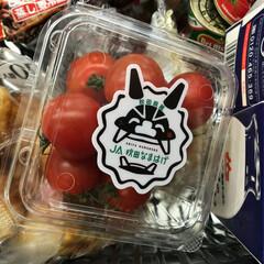 秋田/なまはげ/プチトマト/秋田産 スーパーの野菜売り場に 👹なまはげを発見…