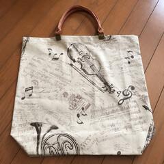 ヴァイオリンモチーフ/ホルンモチーフ/楽器柄/エコバック 去年9月くらいに購入したホルンモチーフの…(4枚目)