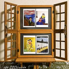 ザ・ニュースペーパー/福本ヒデ/パロディ絵画/ポストカード/セリア ポストカードを飾るために作りました。  …