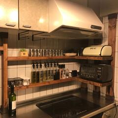 スパイスラック/収納/ディアウォール/キッチン  ジワリとキッチンをいじり。