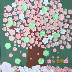 子供達/お花/壁面制作/桜 最初の投稿編集しました💦💦 ごめんなさい…(1枚目)