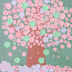 子供達/お花/壁面制作/桜 最初の投稿編集しました💦💦 ごめんなさい…(3枚目)