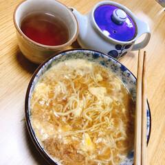 ラーメン🍜/時短料理 今からお昼ラーメン🍜 ラ王 醤油味をアレ…