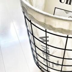 北欧雑貨 MENU ワイヤービン ブラック おしゃれ 人気(ランドリーバスケット)を使ったクチコミ「気に入ると色違い買ってしまう( * ॑˘…」