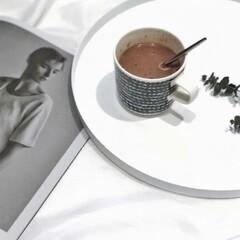 ラテマグ 単品 マリメッコ Siirtolapuutarha シイルトラプータルハ ドット柄 コーヒーカップ ハンドルなし | marimekko(カップ、ソーサー)を使ったクチコミ「モノトーンが好きで、マリメッコ買ってみた…」