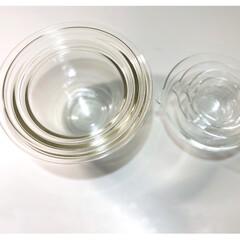 耐熱ガラス製ボウル M,Lサイズ 2個セット HARIO MXP-2606   ハリオ(調理用ボウル)を使ったクチコミ「HARIOの片口ポールを先に購入しました…」(2枚目)