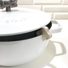 ストウブ Wa-NABE M 40501-005 | STAUB(両手鍋)を使ったクチコミ「イッタラ ポットウォッチャー  お鍋の吹…」