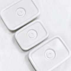保存容器 ホーロー 日本製 おしゃれ 野田琺瑯ホワイトシリーズ レクタングル深型S WRF-S ホーロー保存容器 | 野田琺瑯(食品保存容器)を使ったクチコミ「タッパーは全て野田琺瑯にしてます♥ 匂い…」(3枚目)