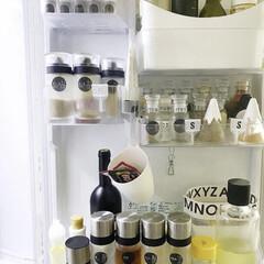 調味料入れ 卓上 ガラス 耐熱 オイル差し 250ml KS522-SVON iwaki イワキ 岩城ハウスウェア | AGCテクノグラス(醤油さし、卓上調味料入れ)を使ったクチコミ「冷蔵庫ドア収納⸜(*ˊᵕˋ* )⸝ …」