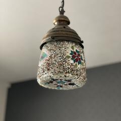 寝室/インテリア/オシャレ/モロッコランプ/照明器具/ルームライト 我が家の寝室のライトはモロッコランプ✨ …(2枚目)