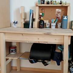 学習机/DIY 去年作成した下の子の机です。適当に作った…